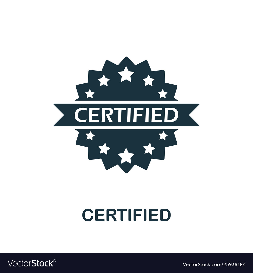 Certified icon symbol creative sign from