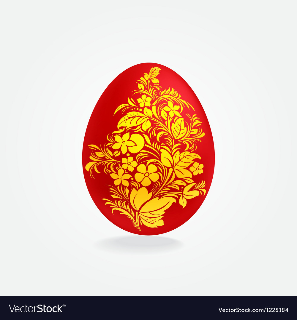 Easter eggs design template vector image