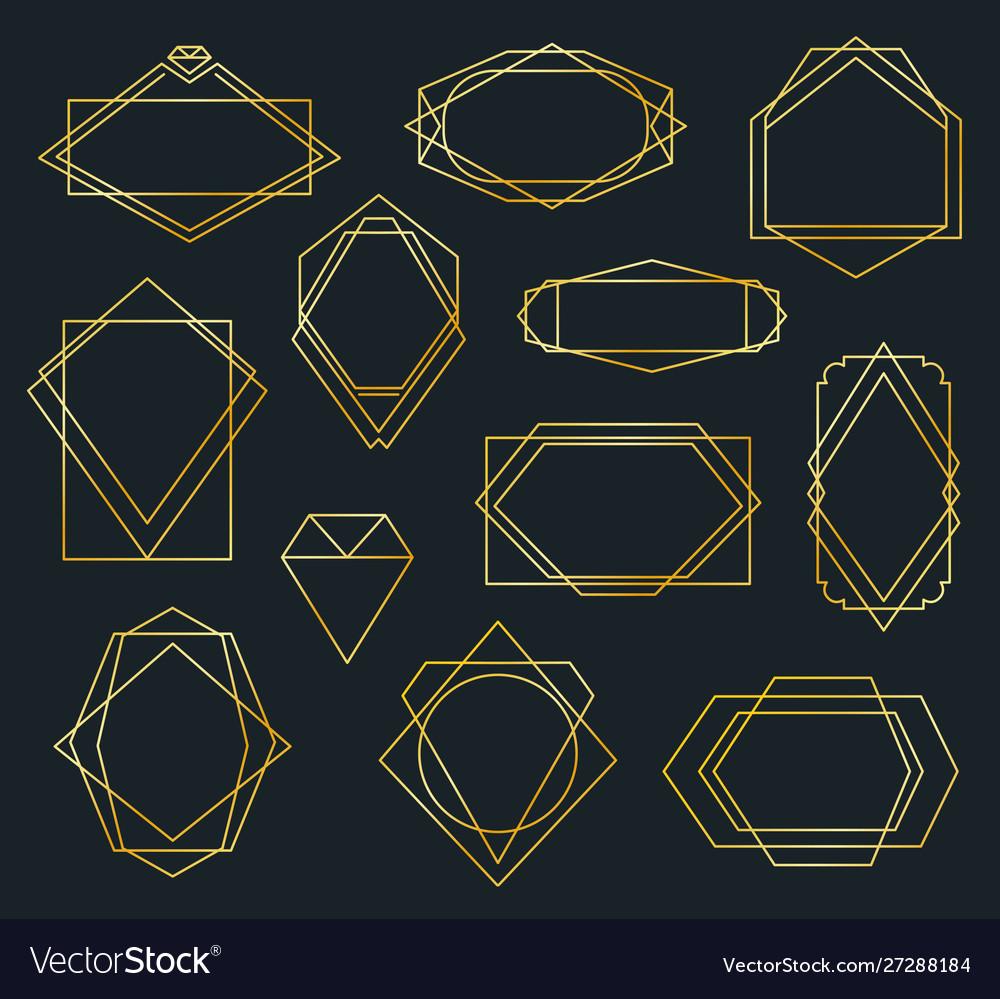 Golden poligonal frames