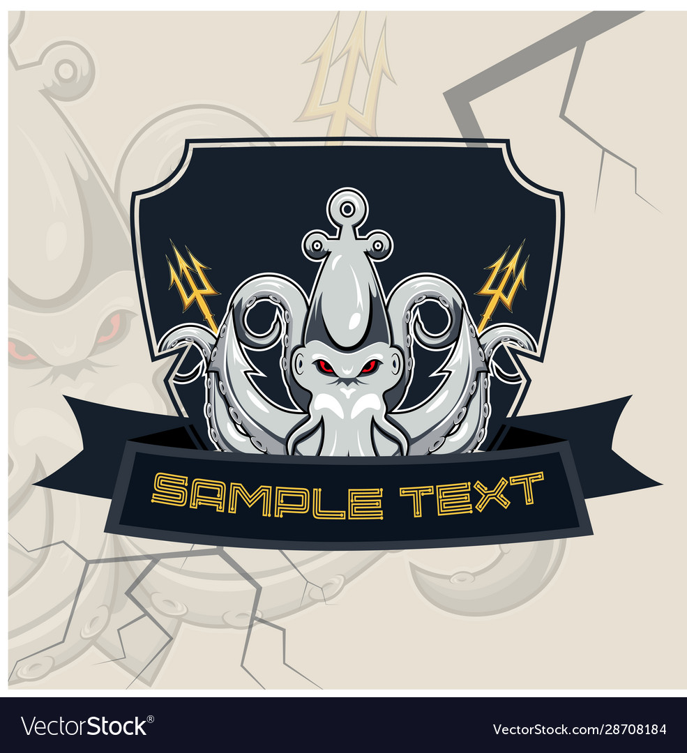 Kraken esport mascot badge design