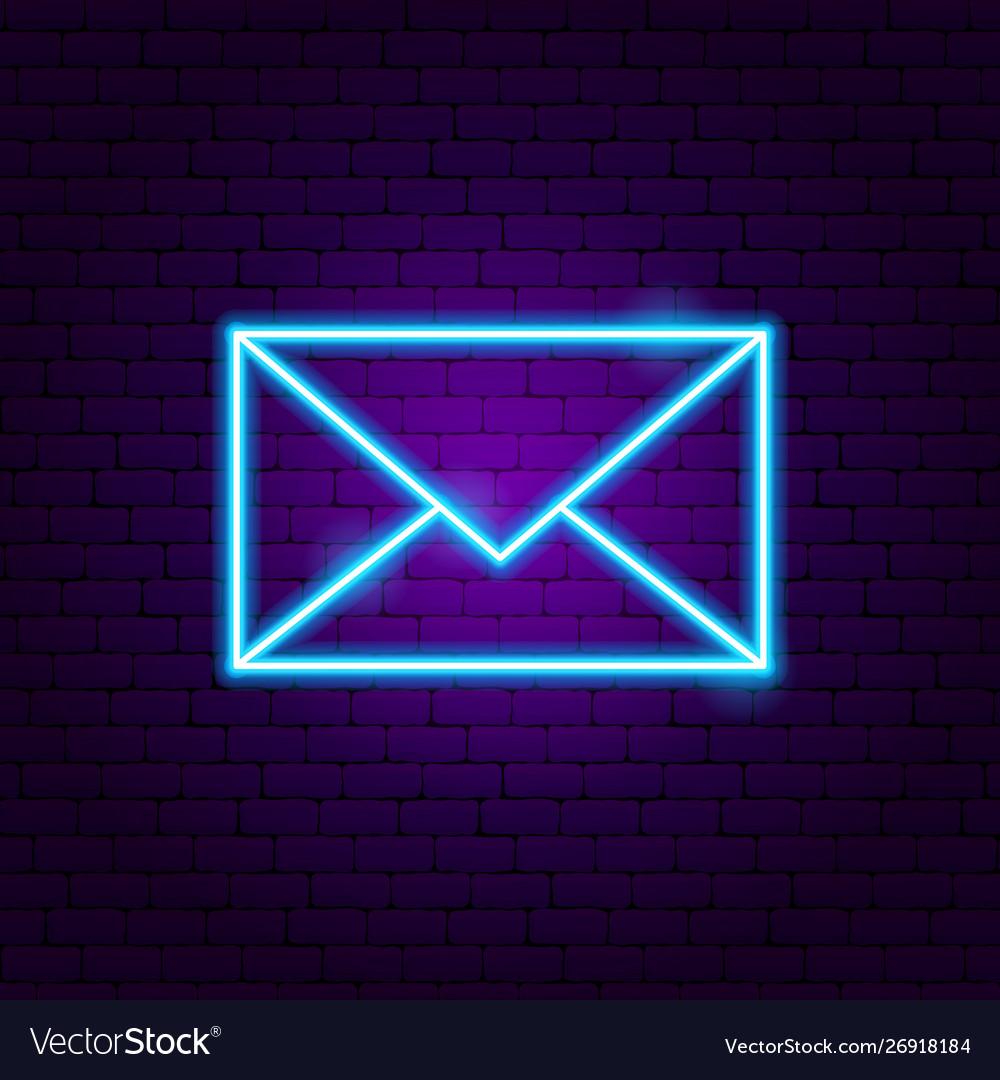 Letter neon sign