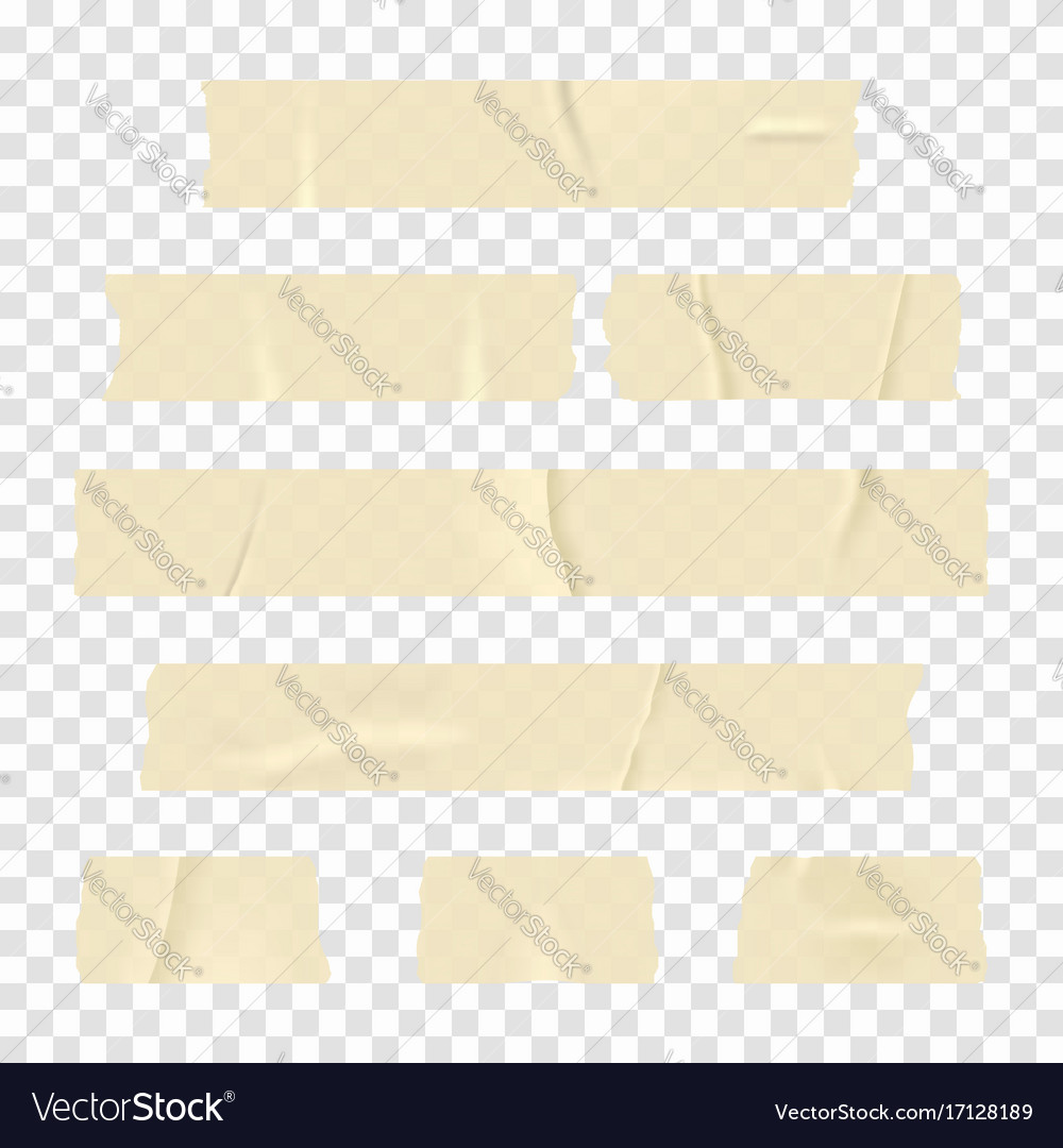 Adhesive tape set of realistic sticky tape
