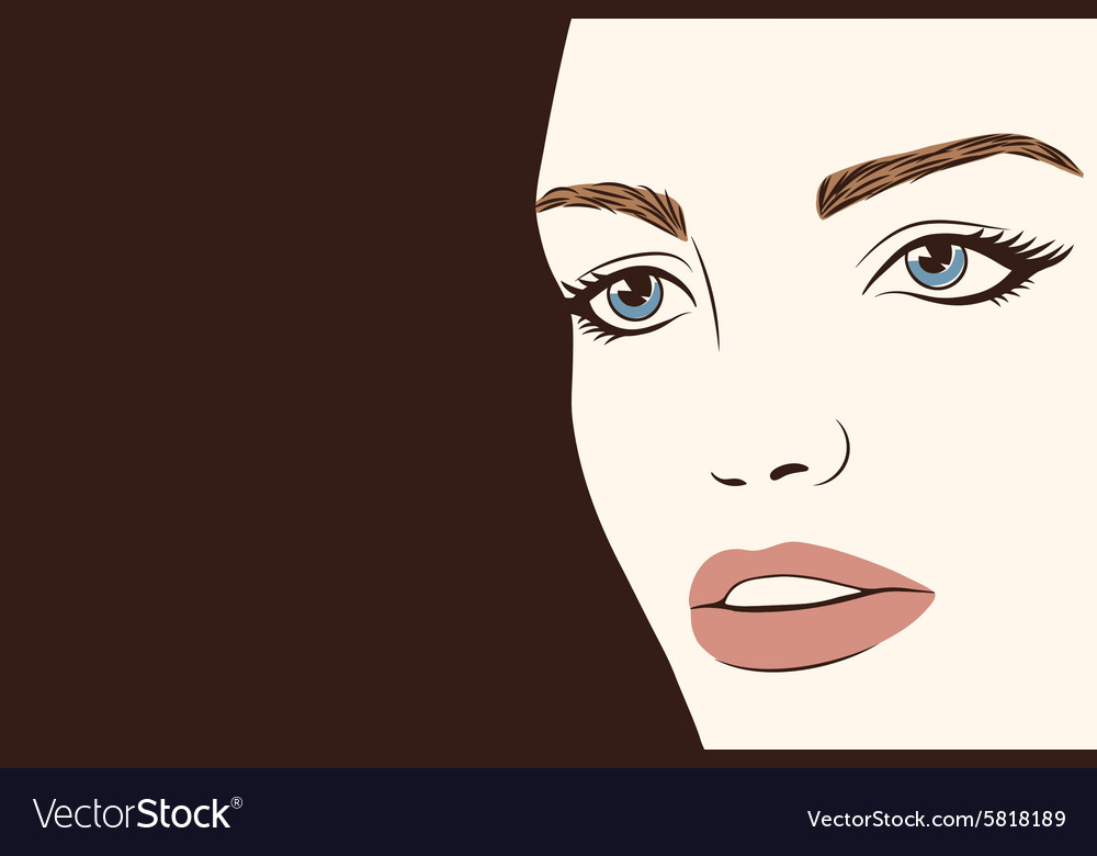 Background with silhouette beautiful woman