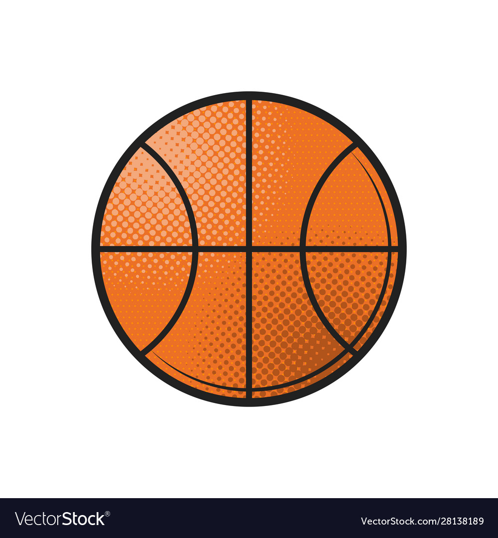 Basketball ball icon design flat in black on