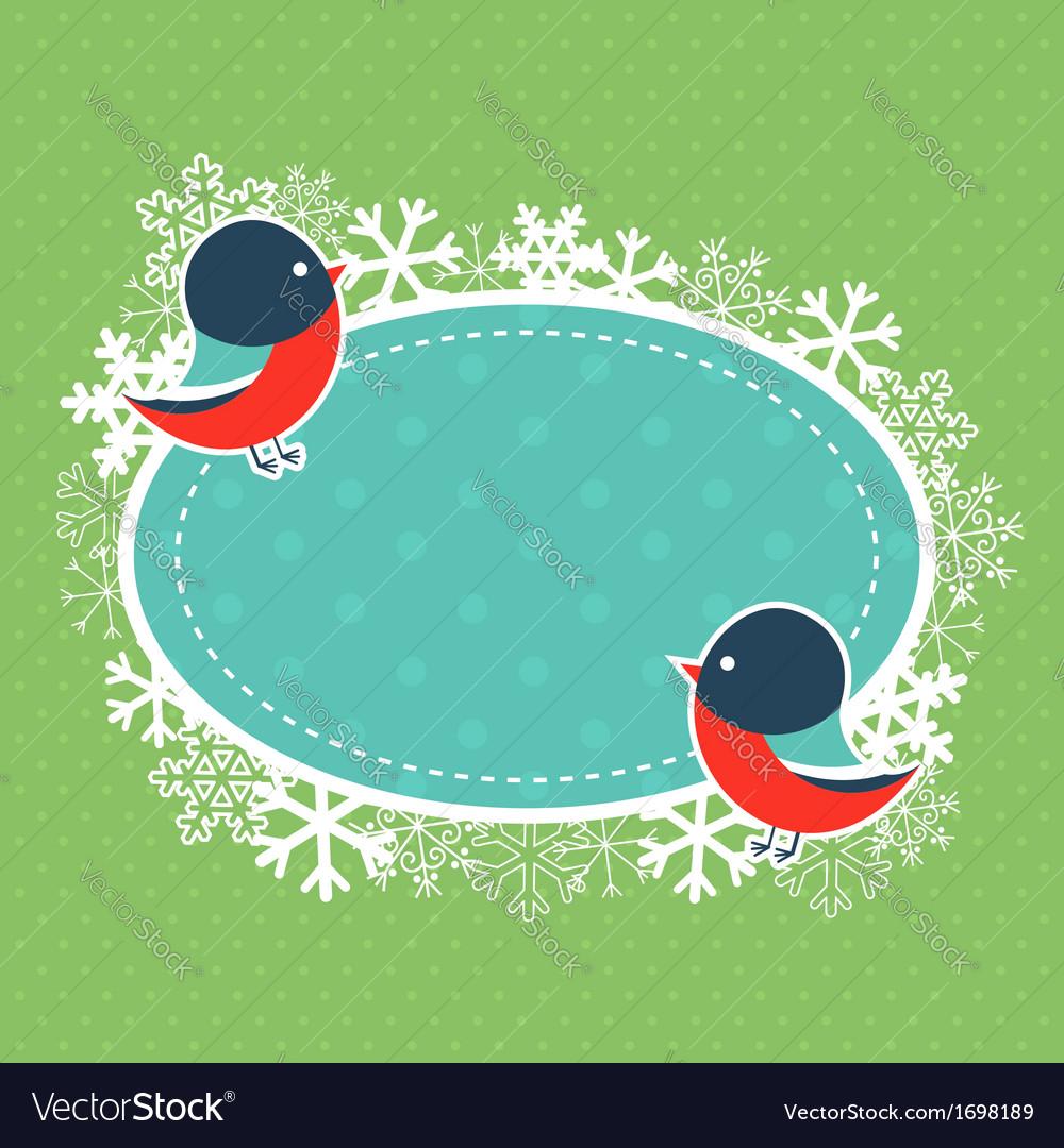 Cute winter invitation xmas card