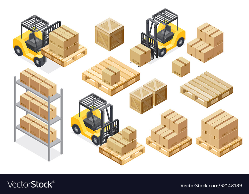 Forklift cargo truck delivery equipment