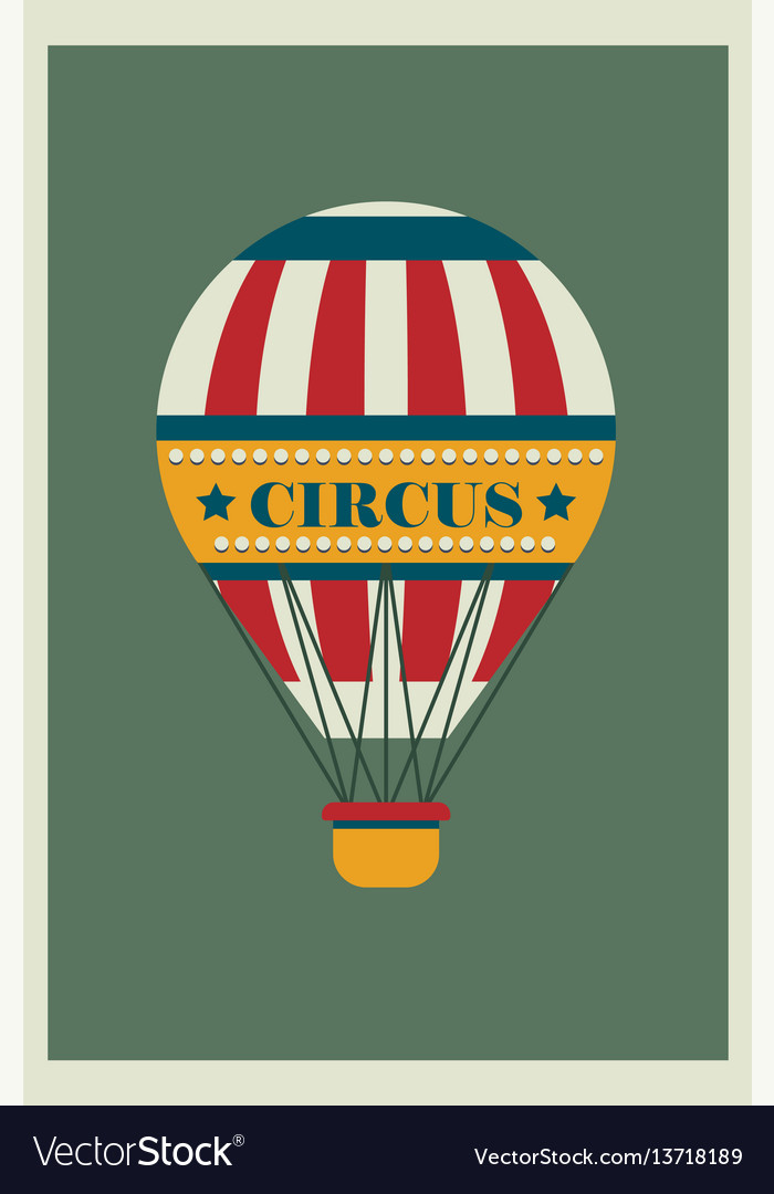 Hot air balloon with small light bulbs and text vector image