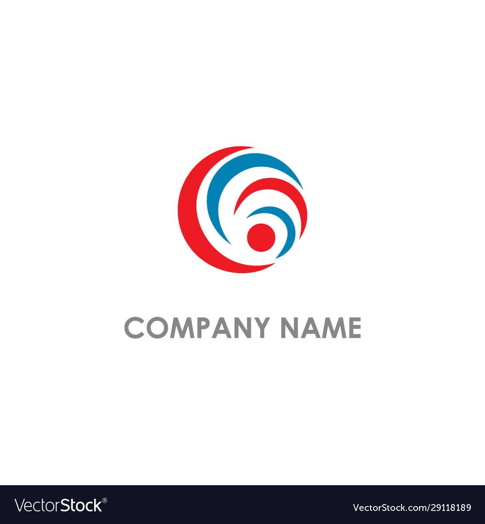 Round circle curve company logo