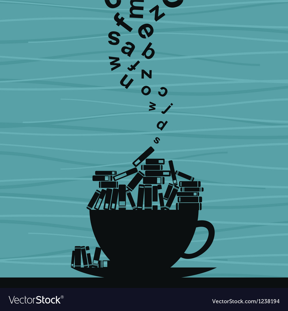Book cup vector image