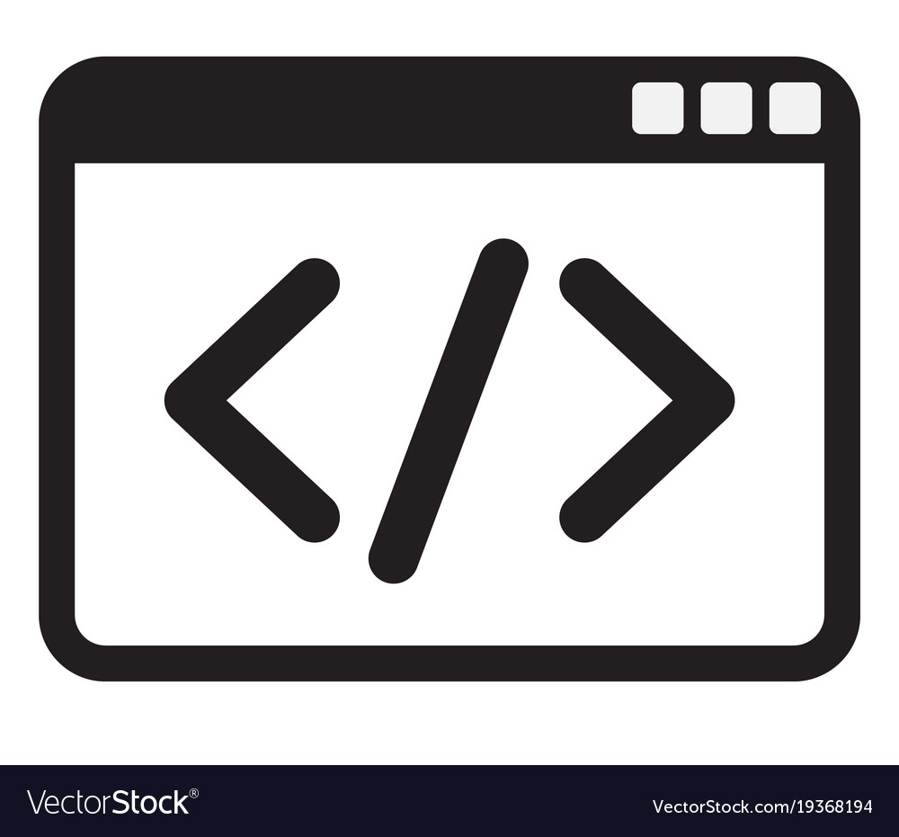 Code icon on white background code icon sign