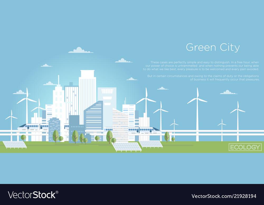 Eco city concept big