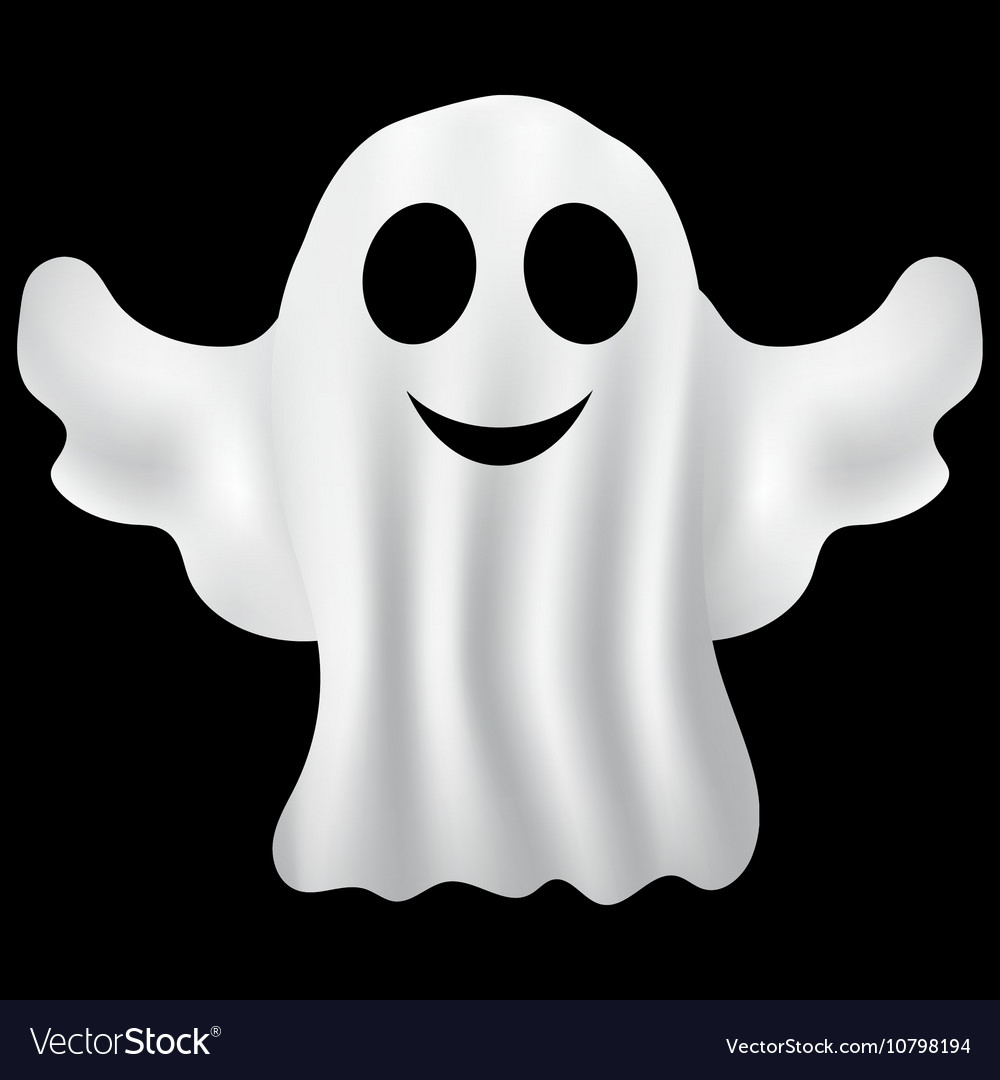Ghost Halloween party in a white sheet Royalty Free Vector