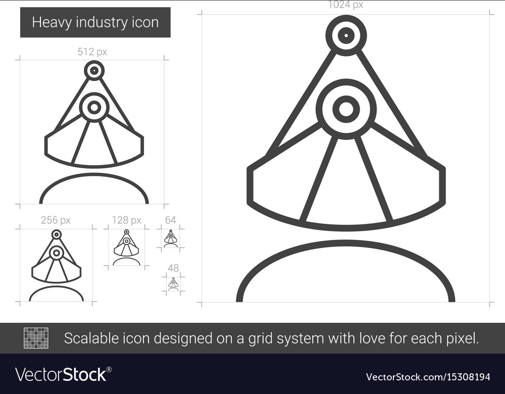 Heavy industry line icon vector image