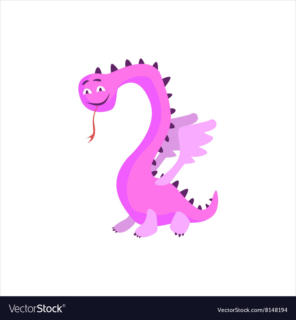 Pink Dragon Childish Monster vector image
