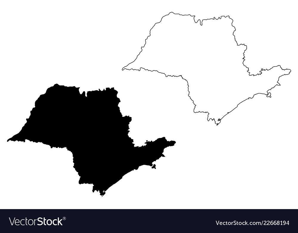 Sao paulo state map