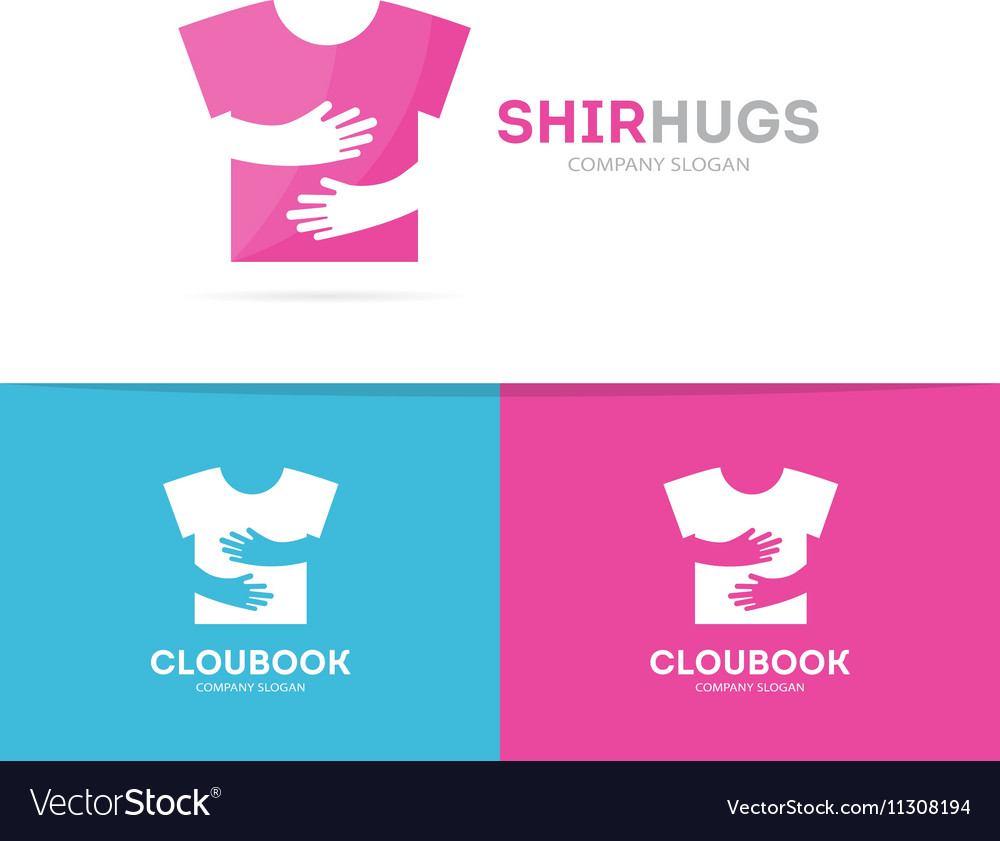 Shirt and hands logo combination Wear and