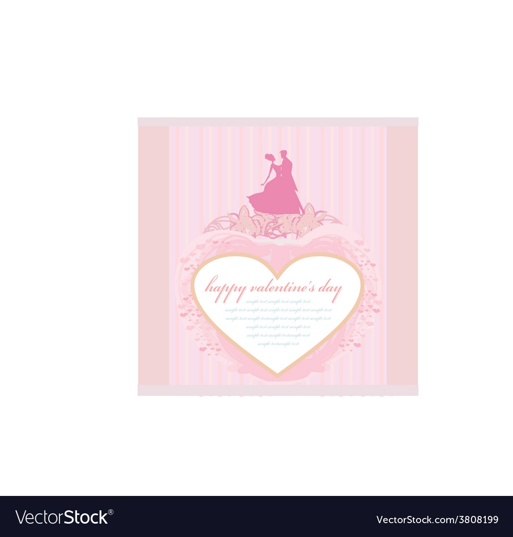 Ballroom wedding dancers silhouette - invitation