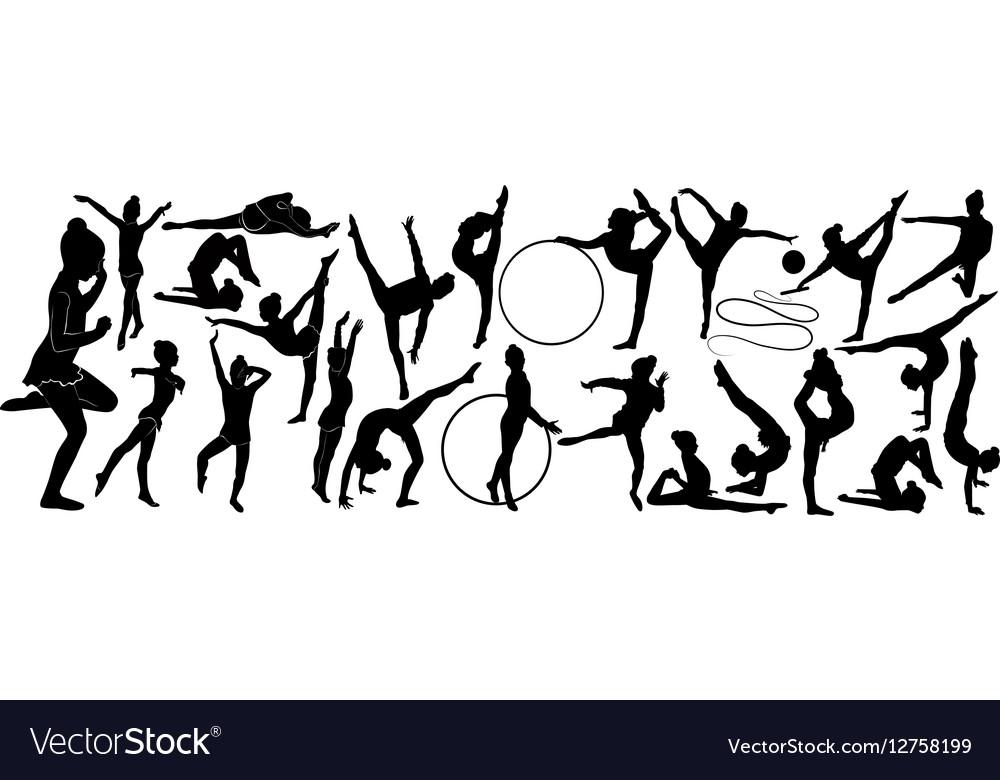 Gymnast athlete vector image