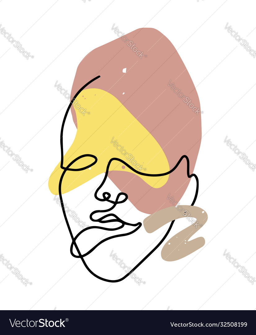 Hand drawn flat woman isolated