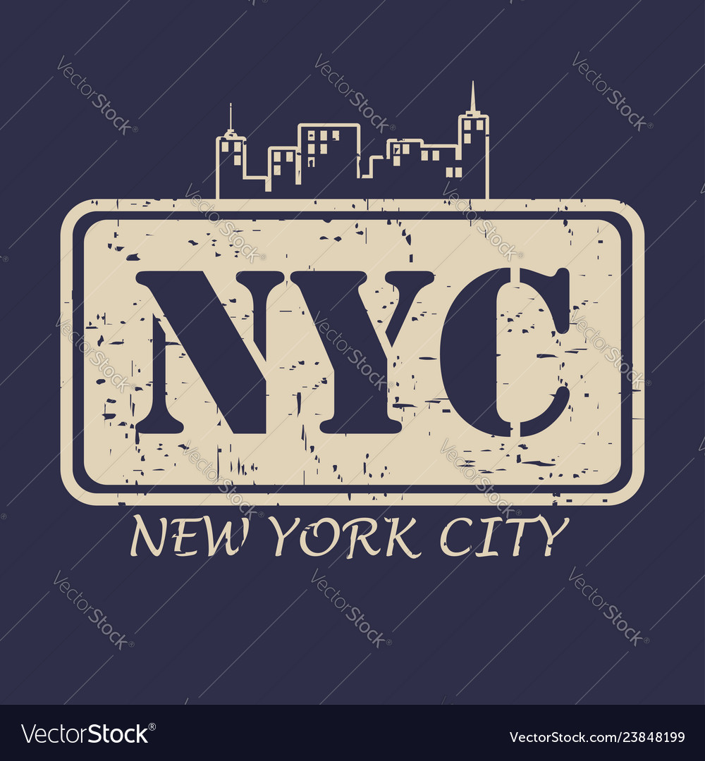 New york city typography for design clothes