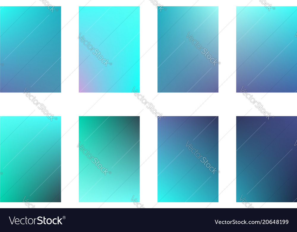 Set of bright and deep blue ui backgrounds