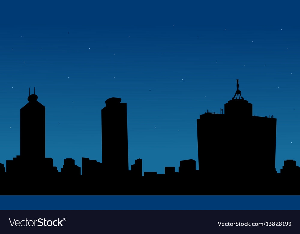 Silhouette of mexico building on city scenery