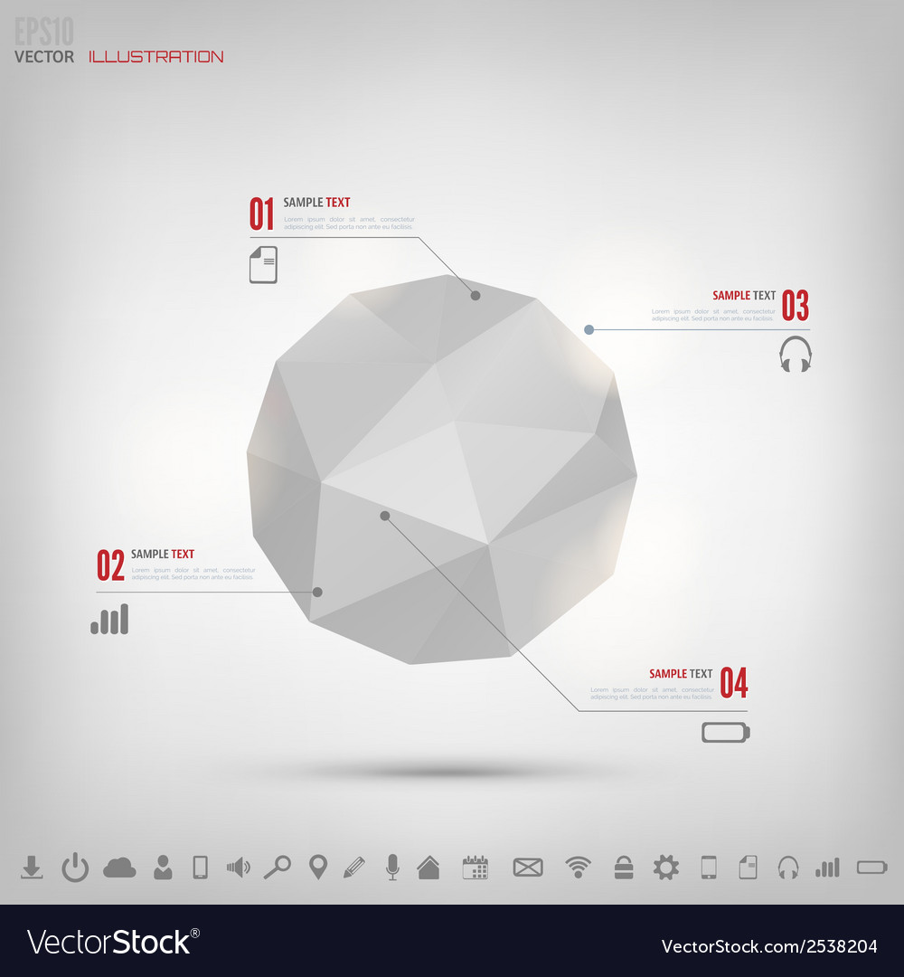 Abstract polygonal geometric background with web