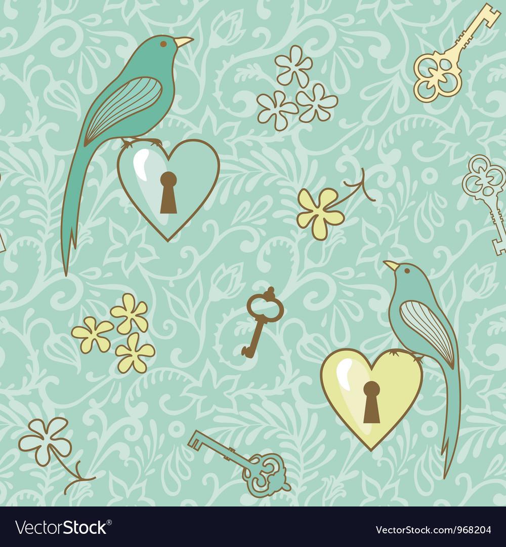 Birds keys pattern
