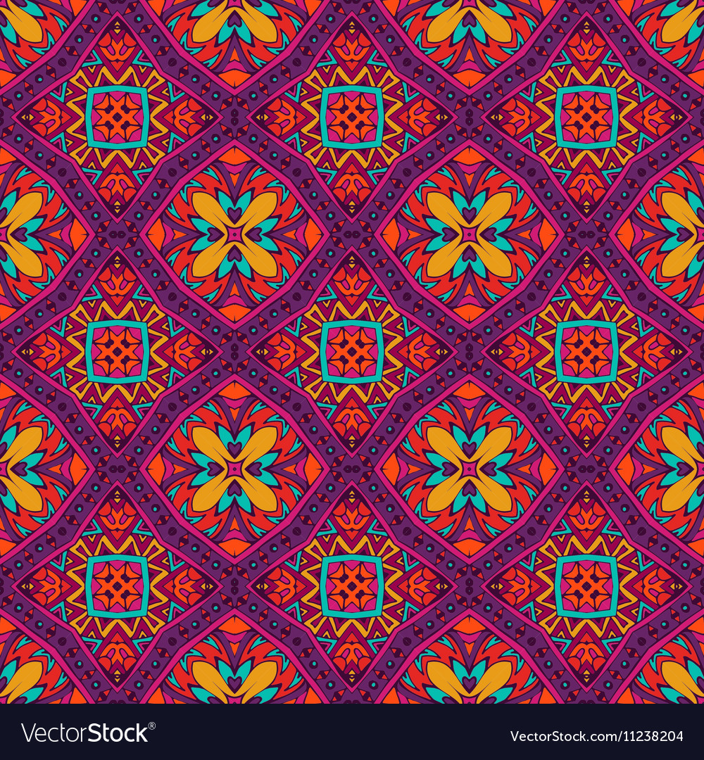 Festive floral seamless pattern