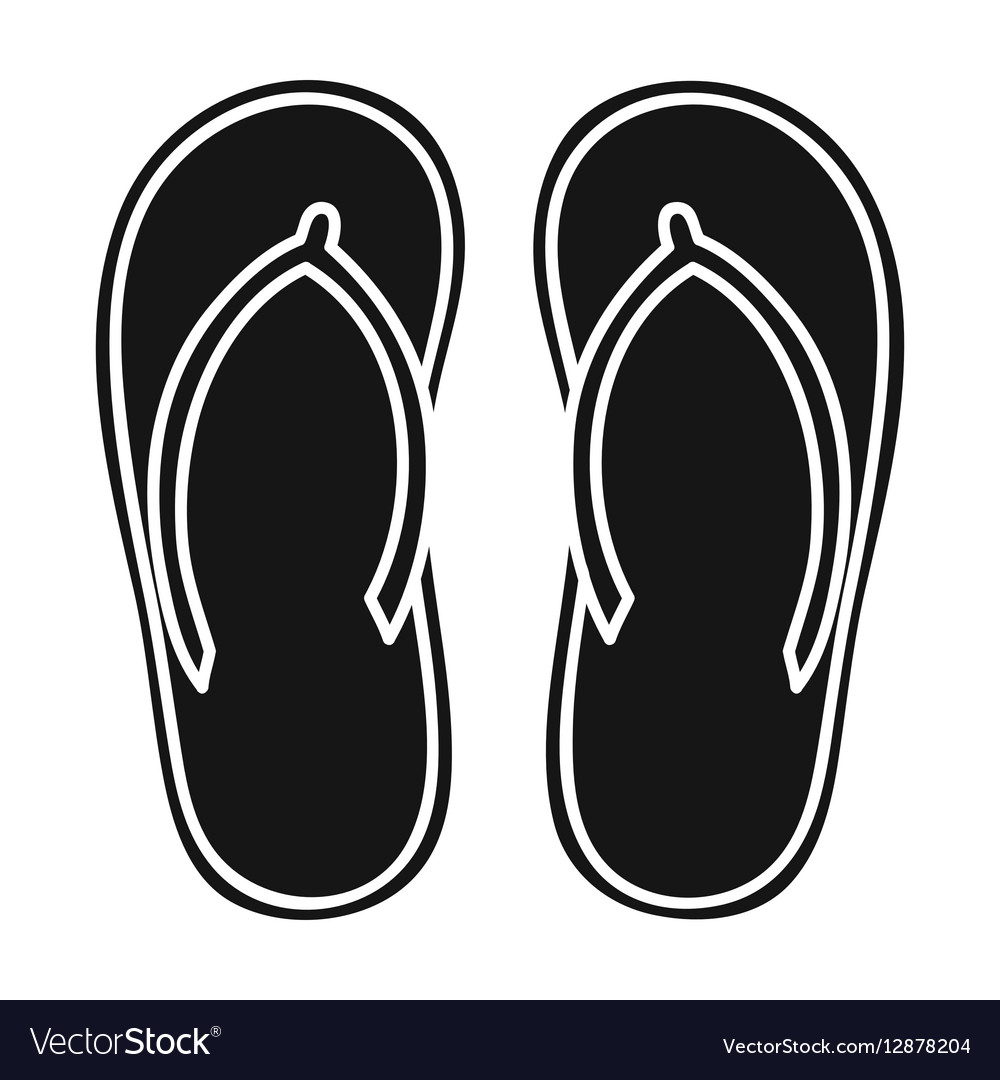 0b5829adf3a2 Flip-flops icon in black style isolated on white Vector Image