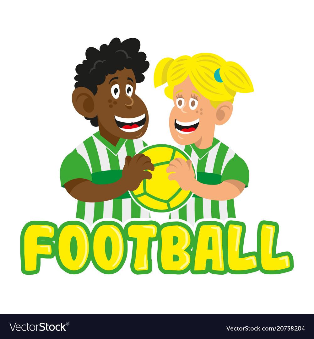 Football boy and man