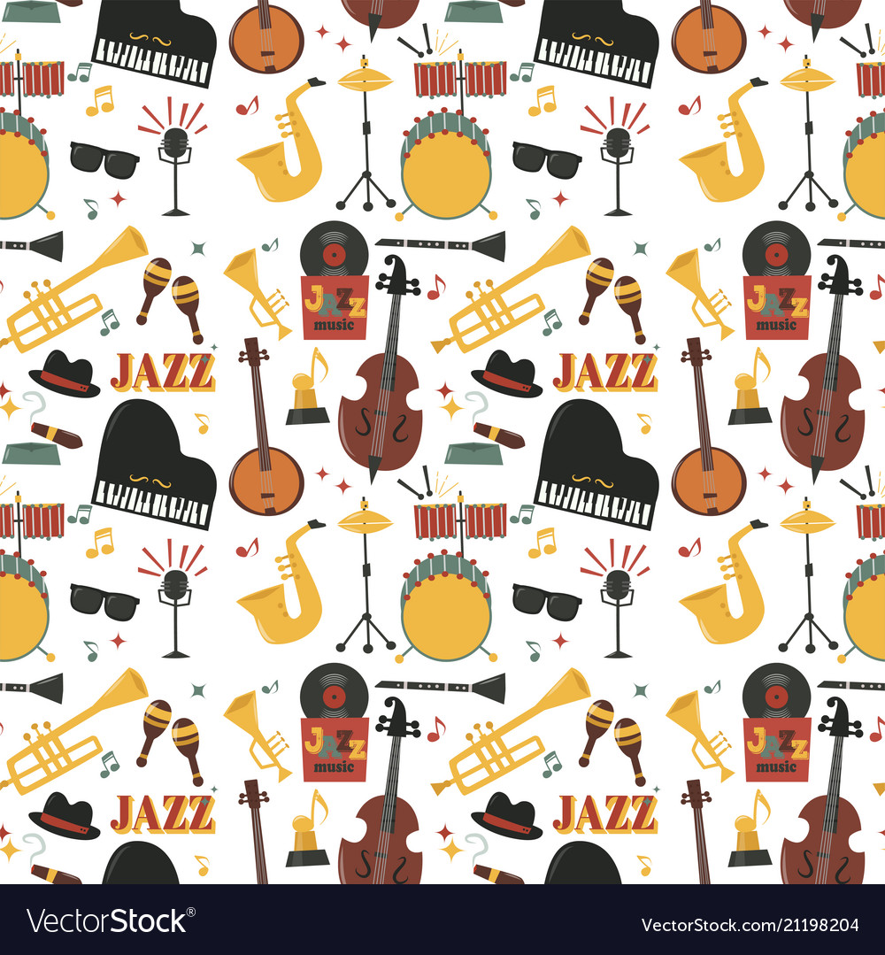 Jazz musical instruments tools background jazzband