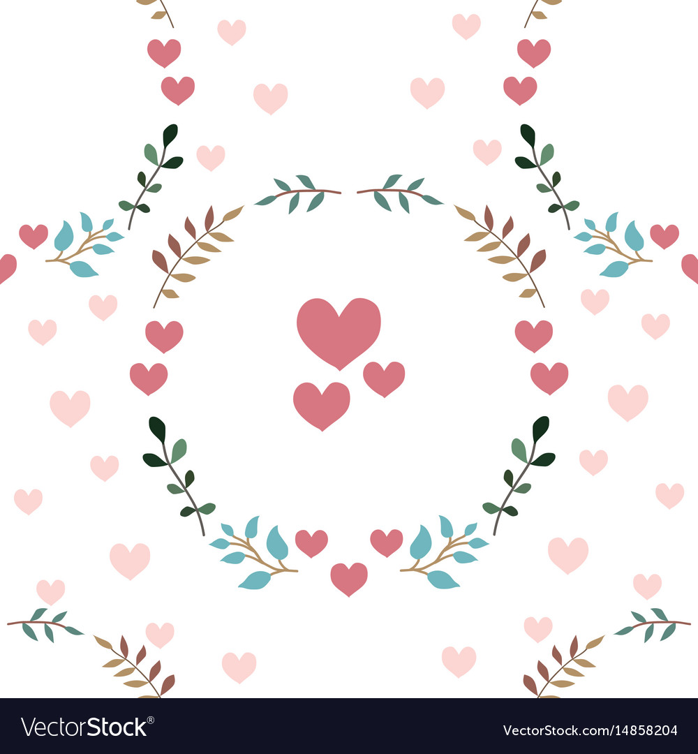 Love seamless pattern retro style with hearts