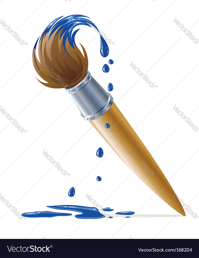 paint brush royalty free vector image vectorstock rh vectorstock com free vector paint brush strokes cartoon paint brush vector