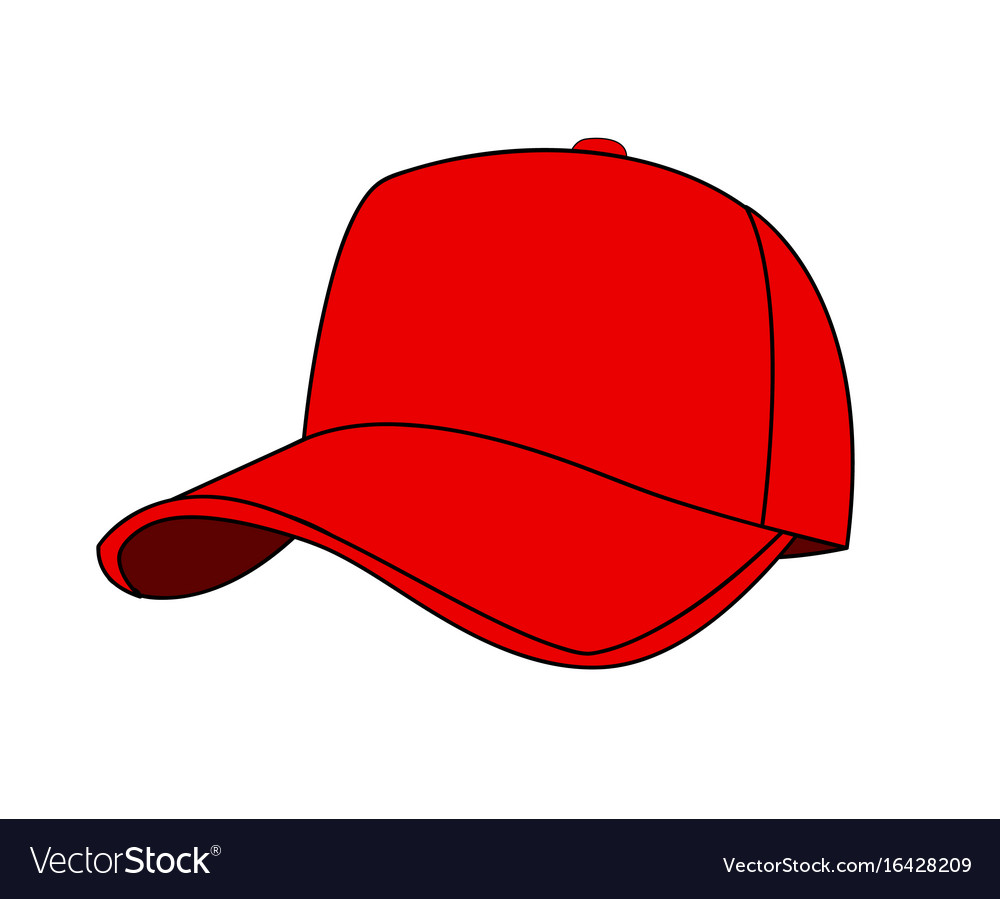baseball cap royalty free vector image vectorstock rh vectorstock com baseball hat vector template black baseball hat vector