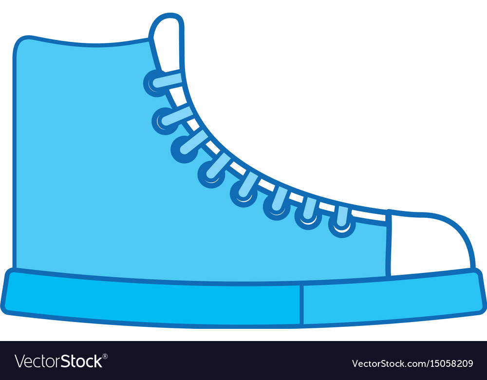 Blue icon boot cartoon