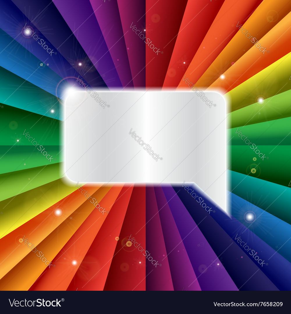 Bright rainbow celebration holiday banner