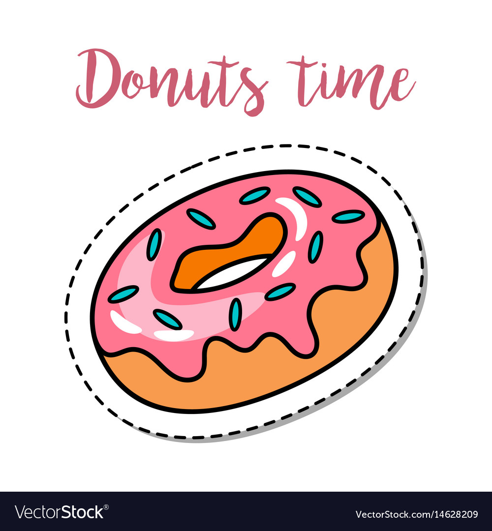 Fashion patch element donut vector image