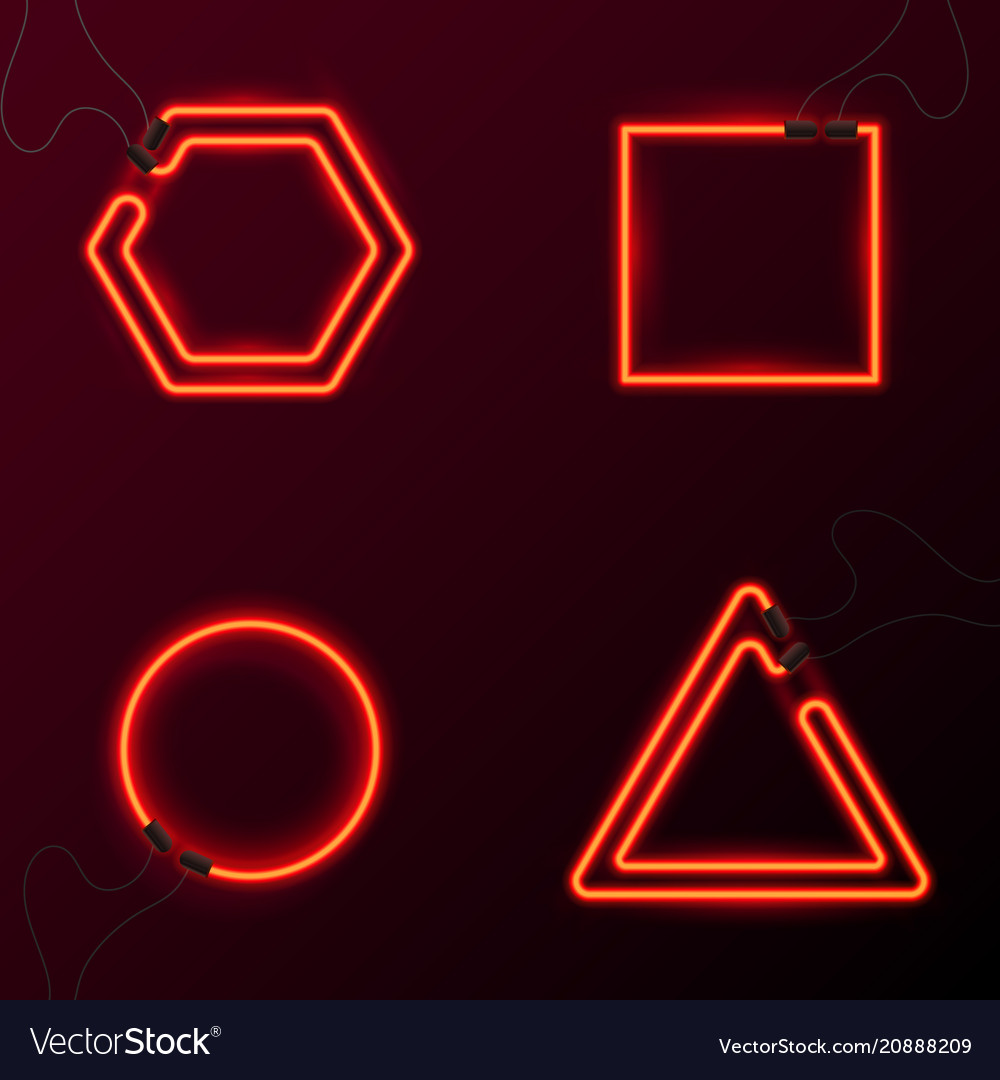 Glowing neon effect abstract triangle night club