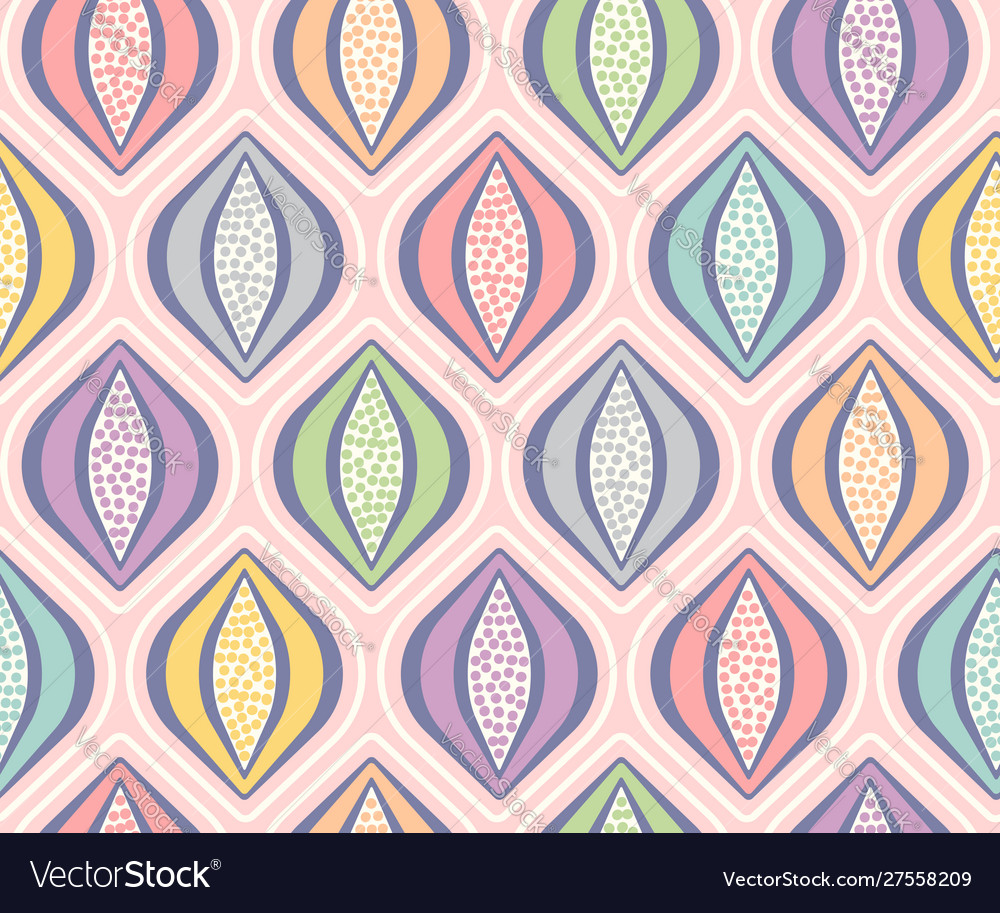 Retro seamless colorful pattern