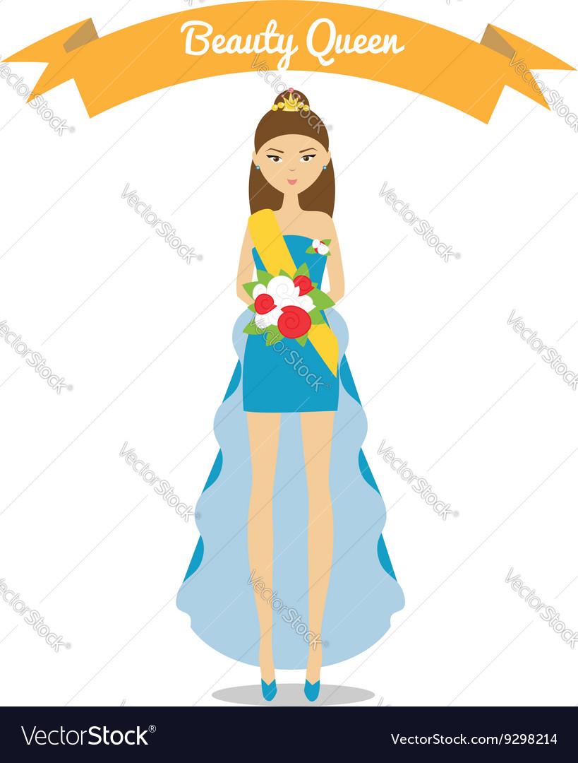 Beauty Queen Royalty Free Vector Image Vectorstock