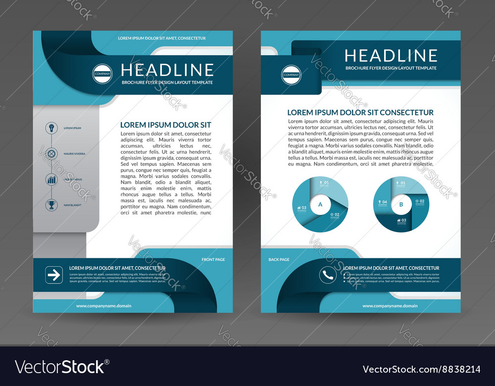 Brochure annual report layout template