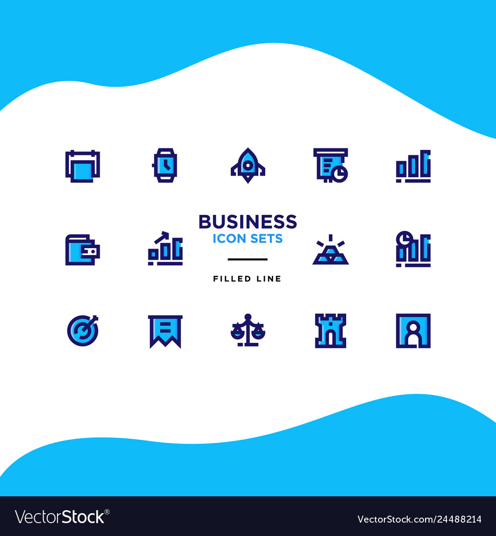 Business and finance icon sets