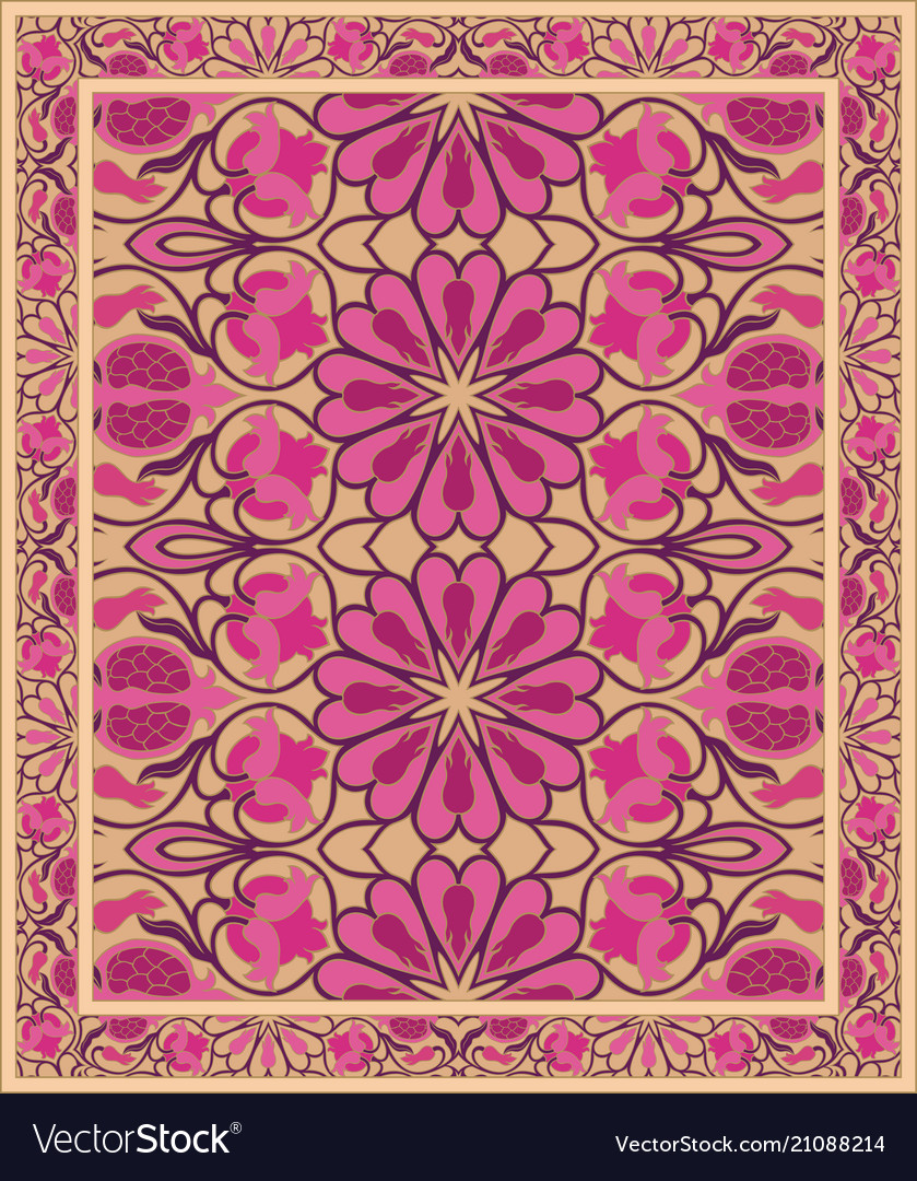 Carpet with pomegranate vector image