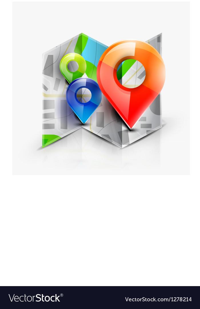 Map navigation icon vector image