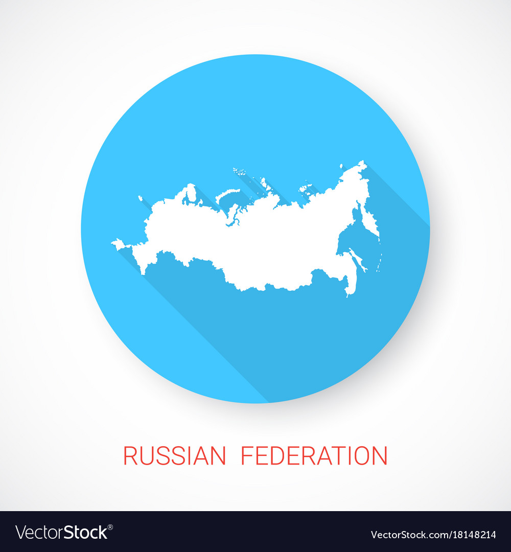 Russian federation map icon