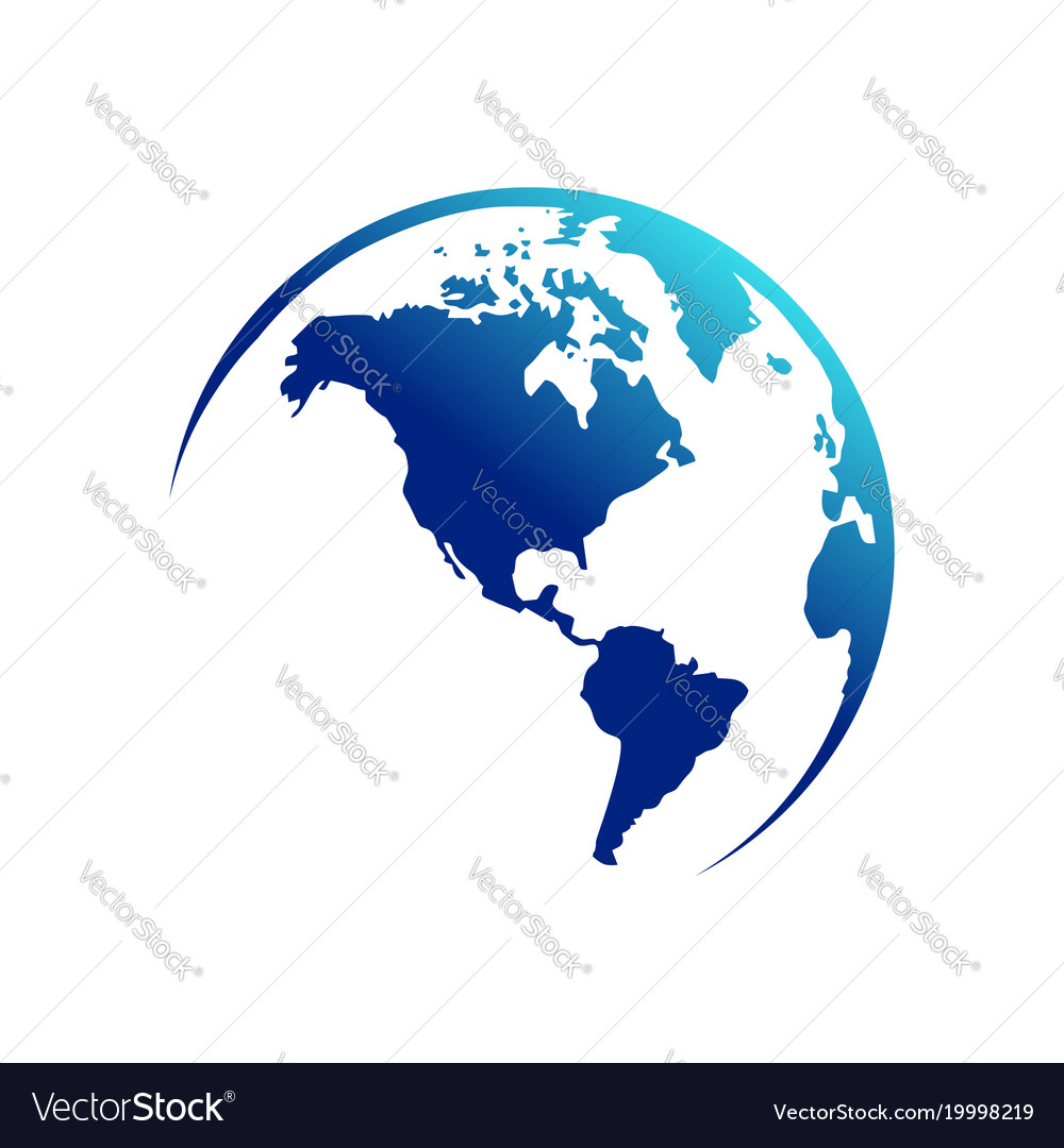 america continent map globe royalty free vector image rh vectorstock com globe vector black and white globe vector black and white