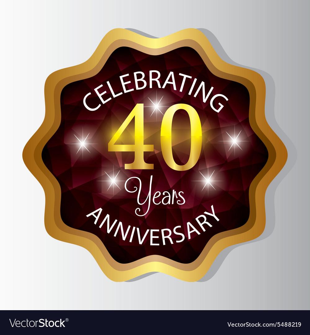 Anniversary label design