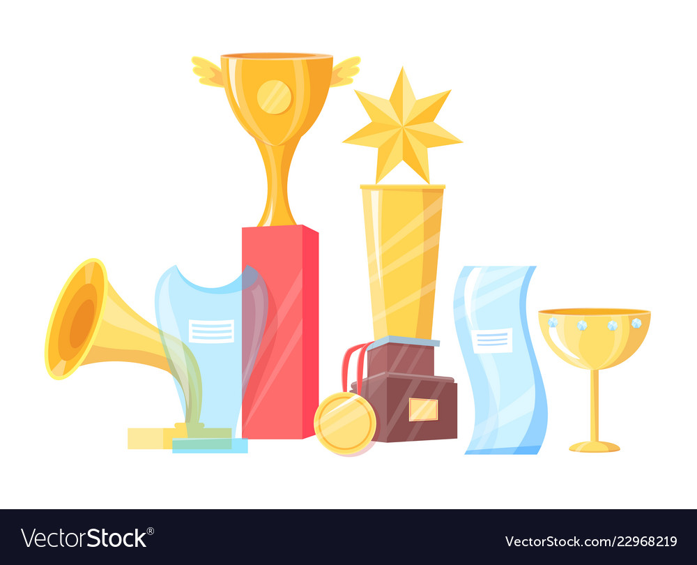 Awards set of different shape