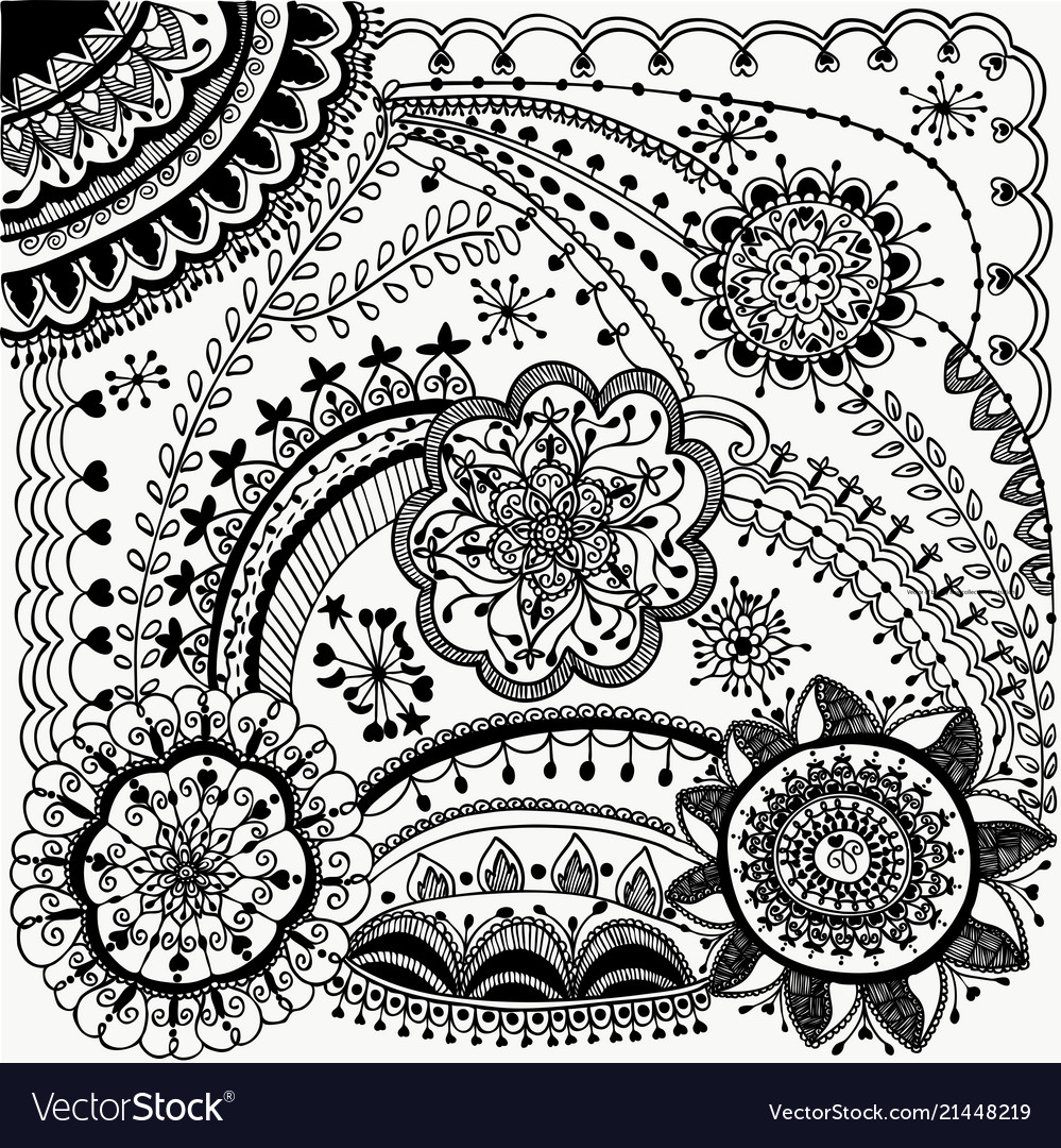 Beauty zentangle design